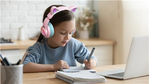 网课必备!Tribit趣倍BTH13猫耳朵儿童耳机——专为儿童设计