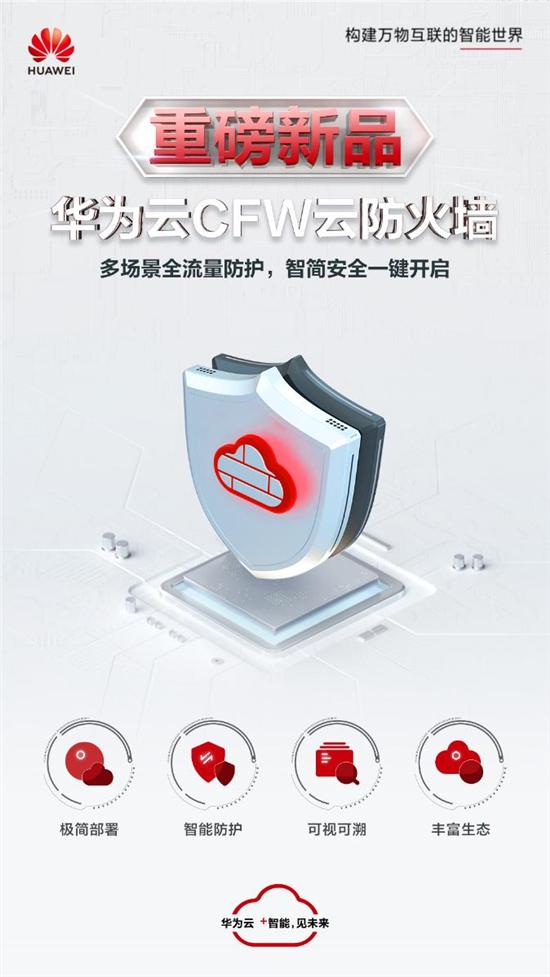 一键开启云上安全,华为云CFW 云防火墙正式发布!